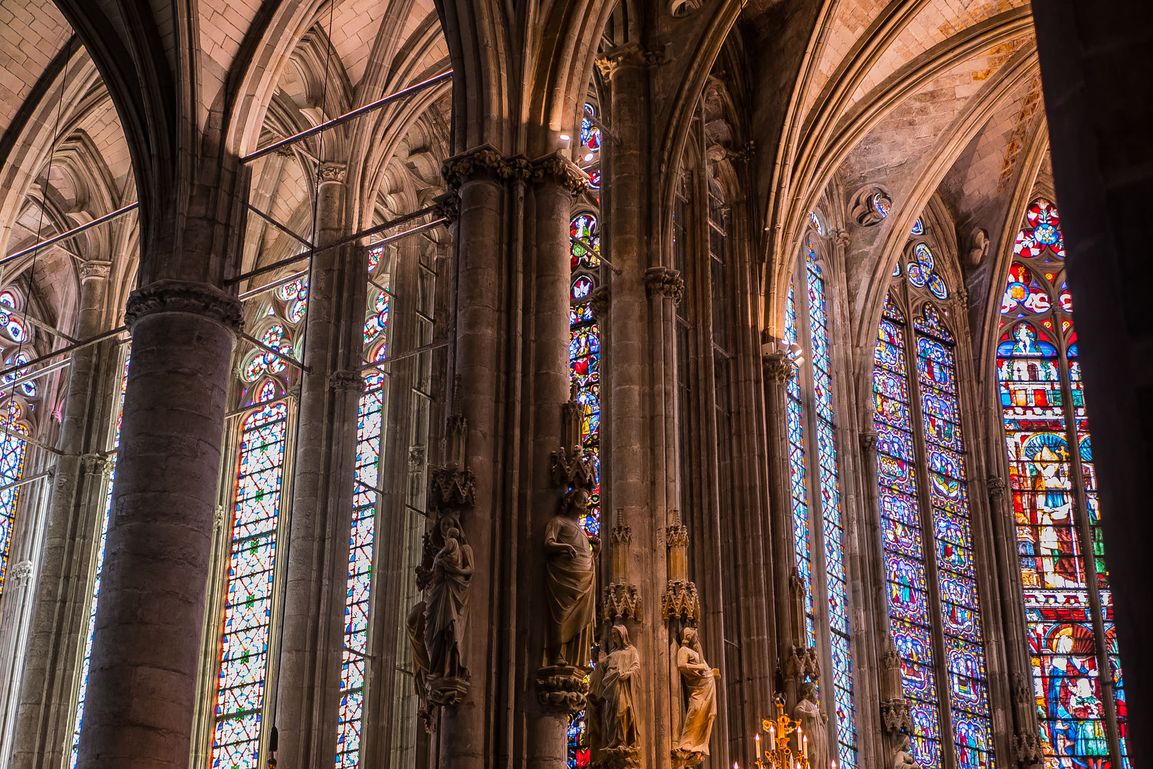 Carcassonne – Chor und nördliches Querschiff